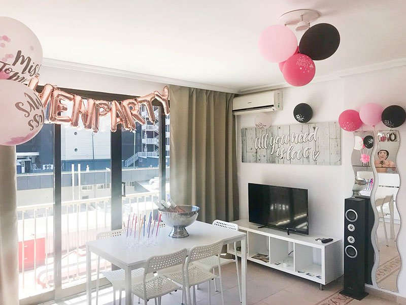 Hen Party Decoration Holiday Apartments Benidorm My Pretty Payma hen
