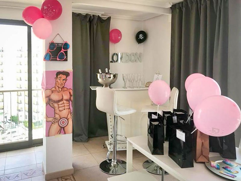 Hen Party Decoration Holiday Apartments Benidorm two bedroom apartment hen