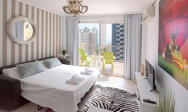 Studio with Balcony Sea View at My Pretty Payma Benidorm