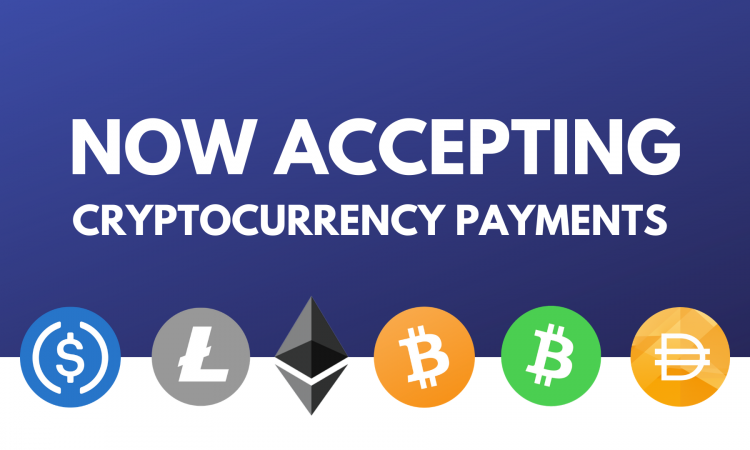 Now accepting cryptocurrency